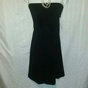 NWT Black Strapless Dress